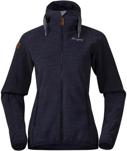 Bergans Hareid Fleece W Jacket dark navy mel L