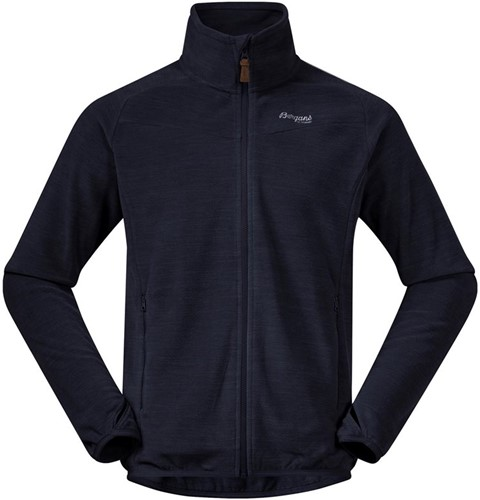 Bergans Hareid Fleece Jacket NoHood dark navy mel L