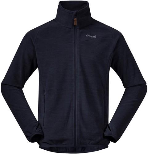 Bergans Hareid Fleece Jacket NoHood dark navy mel M