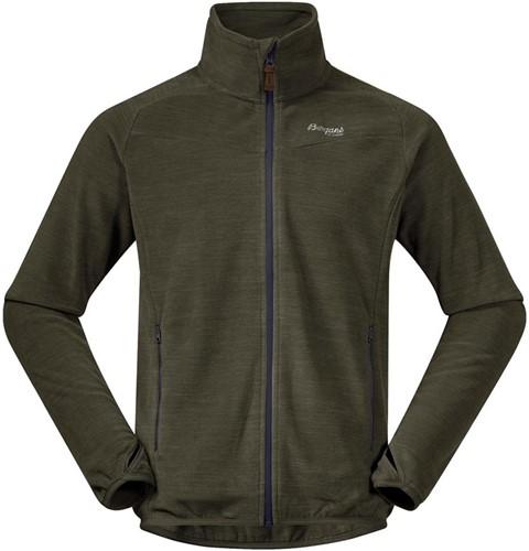 Bergans Hareid Fleece Jacket NoHood seaweed mel L