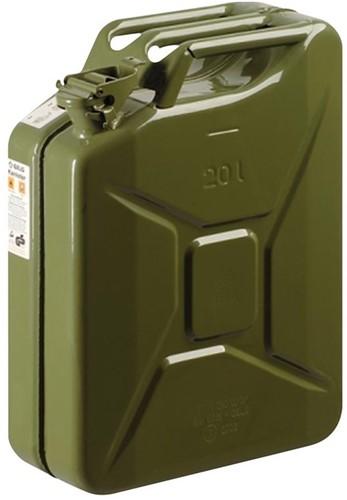 Benzinejerrycan metaal groen 20L
