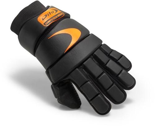 Dita Glove ComfoTec Indoor fluo black/red XS (19/20)